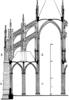 Gótikus katedrális keresztmetszete (Amiens)