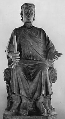 Arnolfo di Cambio: Anjou Károly ülő szobra