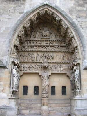 Reims, Notre-Dame székesegyház, északi homlokzat