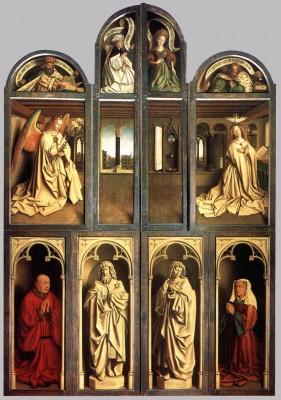Jan van Eyck: A genti oltár csukott szárnyakkal