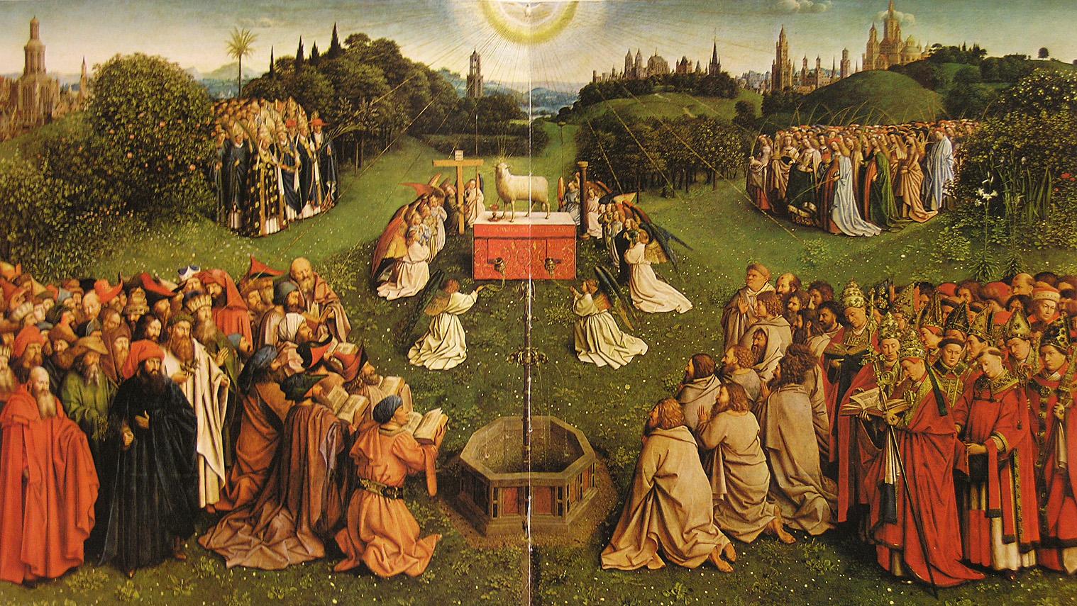 Jan van Eyck: A Bárány imádása a genti oltárról