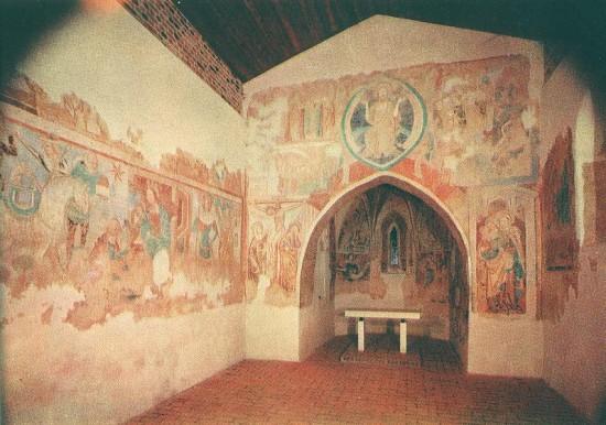 Johannes Aquila: a diadalív és a szentély falképei