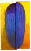 Birkás Ákos: Fej 25. 1987. Magyar Nemzeti Galéria, Budapest. 206x126 cm. olaj, vászon.
