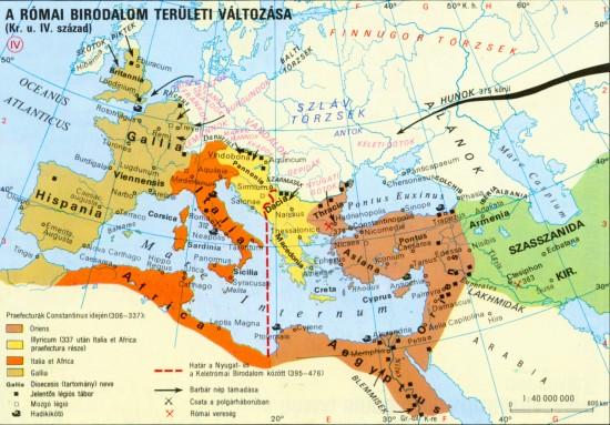 A római birodalom a Kr.u. 4. században