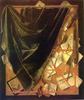 Cornelis Norbertus Gysbrecht: Levéltartó tábla és függöny