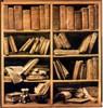 Giuseppe Maria Crespi: Polcok kottáskönyvekkel