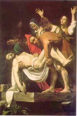 Caravaggio: Krisztus sírbatétele