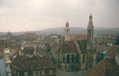 A soproni ferences kolostor látképe