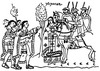Inka ábrázolás fehérek és rézbőrűek találkozásáról
