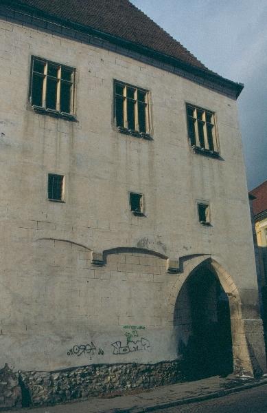 A nagyszebeni városháza külső homlokzata