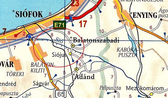 Térképen jelölt csatorna