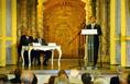 A Szent István és Európa c. konferencián Orbán Viktor, a Fidesz Magyar Polgári Szövetség elnöke beszél