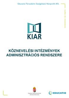 KIAR - Köznevelési Intézmények Adminisztrációs Rendszere