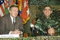 Keleti György és George A. Joulwan sajtótájékoztatója Taszáron
