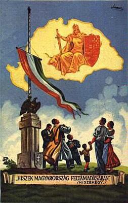 Hiszek Magyarország feltámadásában – Trianon-ellenes plakát