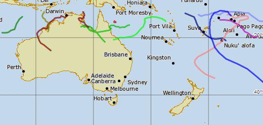 Hurrikán-2013 - Trópusi-ciklon-Ausztrália-2010