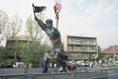 Az Osztyapenko-szobor bontása