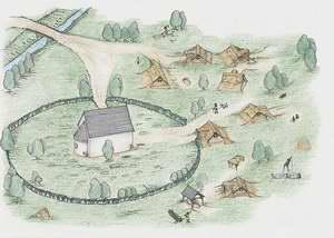 Egy kora középkori udvarház és falu