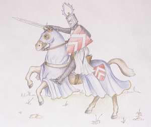 Középkori lovag ábrázolása
