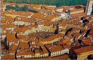 Lucca látképe