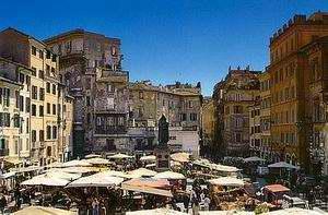 Egy középkori város piaca