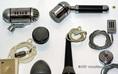 Korabeli mikrofonok az orsós magnók múzeumában