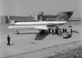 JAK-40 típusú repülőgép bemutatója a Ferihegyi repülőtéren