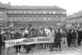 Ifjúsági lakásdemonstráció Győrött