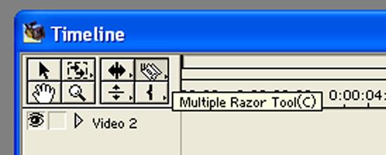 Multiple razor tool