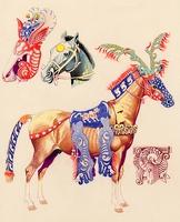 Szkíta szarvasálarcos ló