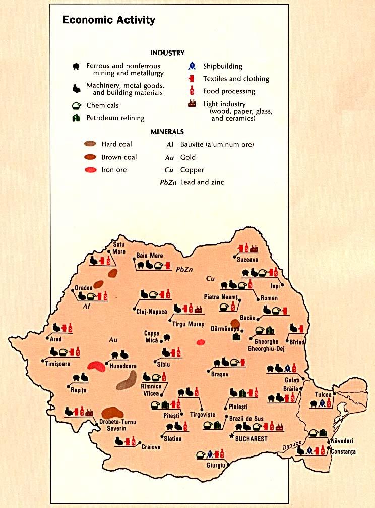 Románia ásványai és ipara