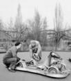 Gokart-kocsik a Vidámparkban