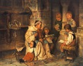 Hermann Kaulbach: Muzsikáló barát éneklő gyermekekkel
