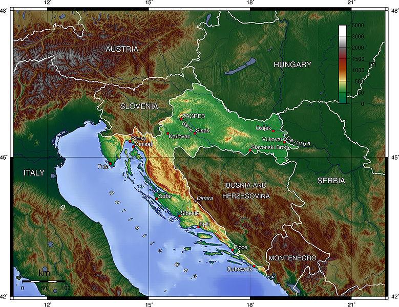 Horvátország térképe