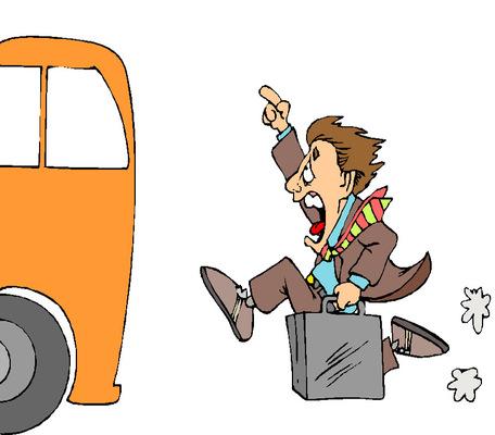 Mozgó járműre nem szabad felszállni