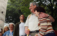 Sólyom László környezetvédőkkel a Zengőn