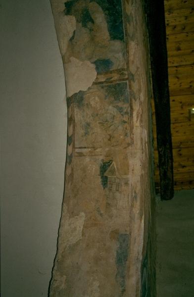 A cserkúti plébániatemplom - a diadalív belső fele