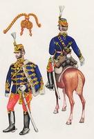 Honvédhuszár őrnagy díszöltözetben