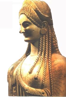 Görög női hajviselet a Kr.e. 7-6. században