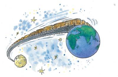 Teherpályaudvar a Föld és a Hold között