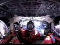 Az űrrepülőgép startja - a pilótafülke
