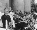 Lékai László temetésén Kállai Gyula beszél