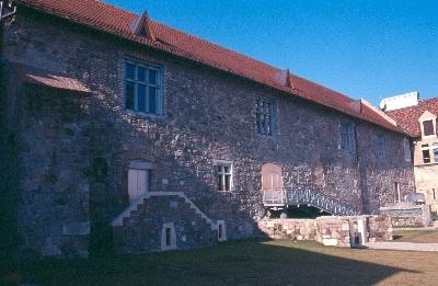 Az esztergomi vár - érseki palota nagytermének udvari homlokzata