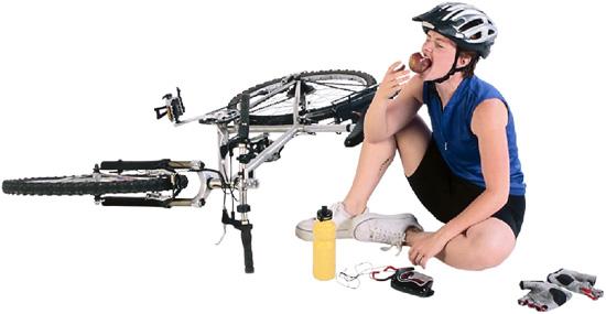Kerékpározó lány