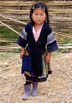 Mongolid nagyrasszhoz tartozó kislány