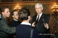 Hans van den Broek az Európai Bizottság tagja Magyarországon