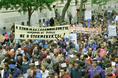 A Nagycsaládosok Országos Egyesületének demonstrációja