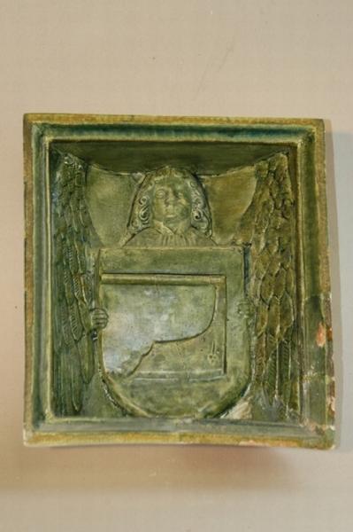 Szekercés címeres kályhacsempe