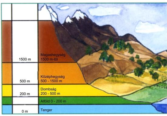 budapest tengerszint feletti magassága térkép Ember a természetben   5. osztály | SuliTudásbázis budapest tengerszint feletti magassága térkép