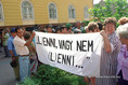 Tüntetés Miskolcon a súlyos elszegényedés ellen